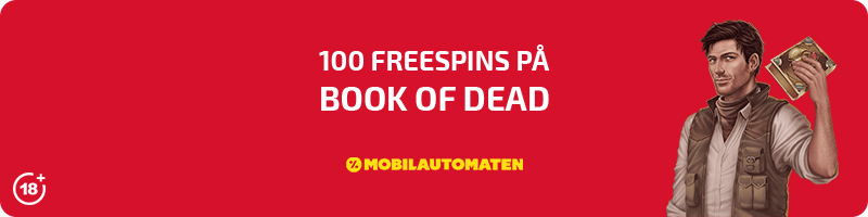 100 spins på Book of Dead hos Mobilautomaten