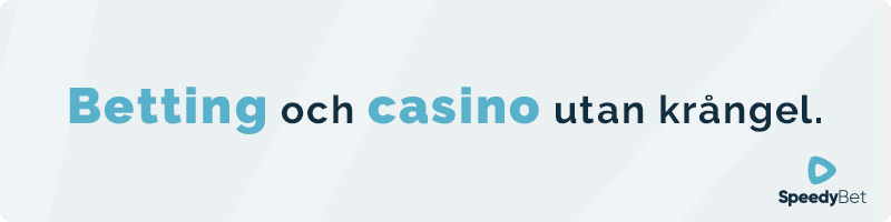Betting och casino hos Speedy Bet