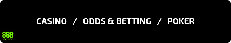 Casino, odds & betting och poker hos 888 Casino