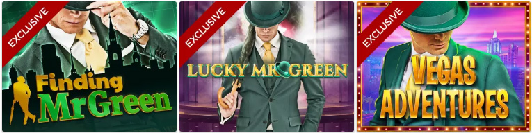 Exklusiva slots hos Mr Green
