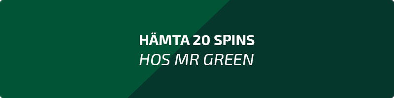 Hämta 20 spins hos Mr Green