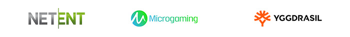 NetEnt, Microgaming, Yggdrasil