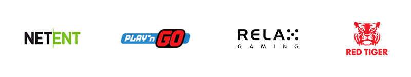NetEnt, Play'N GO, Relax Gaming och Red Tiger